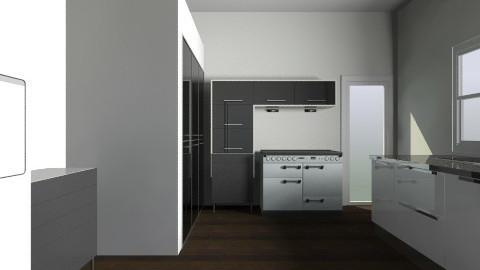 Black and White - Minimal - Kitchen  - by Lucy_Alexandria