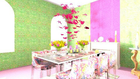 Klimt Eclectic - Eclectic - Dining room - by bambi2012