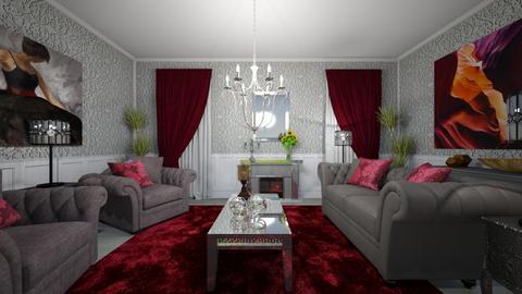 gris - Living room  - by virgen