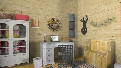 My wooden home - Rustic - Office  - by mrschicken