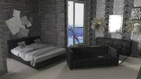 zebra - Classic - Bedroom  - by Lizette Najera