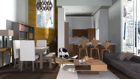 Barrow-street-loft - Eclectic - Living room  - by sahfs