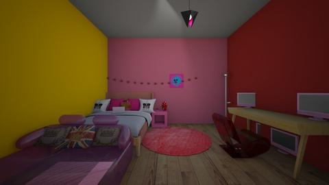 technoblades room - Bedroom  - by crying_room