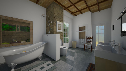 Cuntry bath - Country - Bathroom  - by pachecosilv