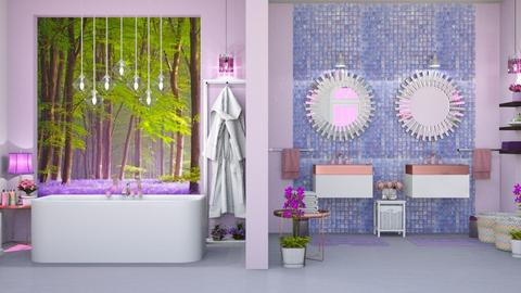 lavander bathroom - Bathroom  - by Moonpearl