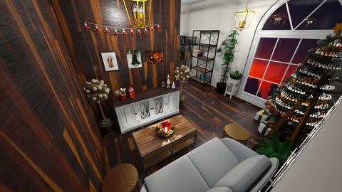 Christmas L  shaped room - Rustic - Living room  - by Oryginal_nickname
