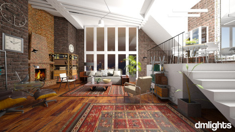 Loft - Living room  - by janip