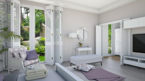 White Lilac 4 - Minimal - Bedroom  - by Ejad Shukri