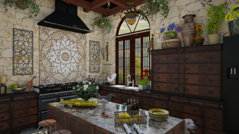 Design 106 Tuscan Kitchen - Kitchen  - by Daisy320