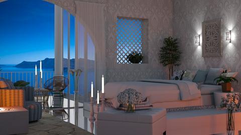 Greek Bedroom - Bedroom  - by Sue Bonstra