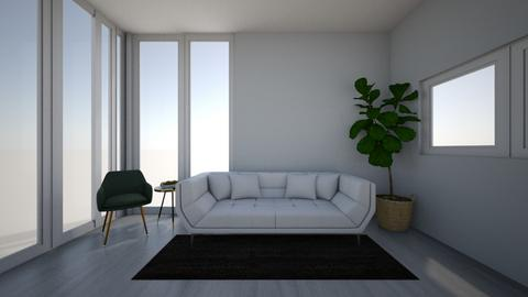 Minimalist living room - Living room  - by SammiAly