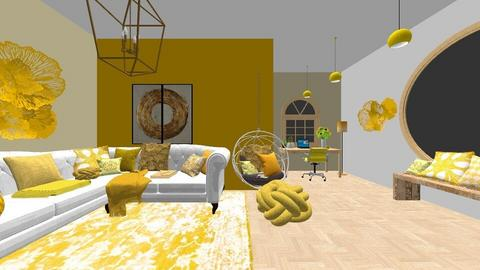 yellow workspace - Office  - by L2021