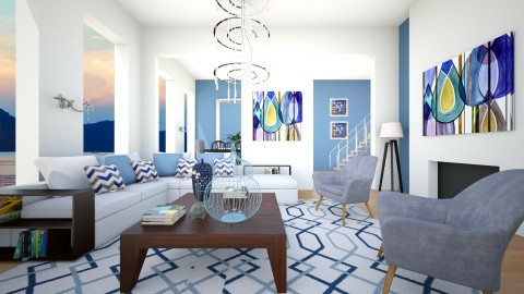 Blue Summer - Modern - Living room  - by channing4