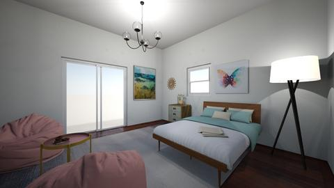pastel bedroom - Bedroom  - by cfoltyniak