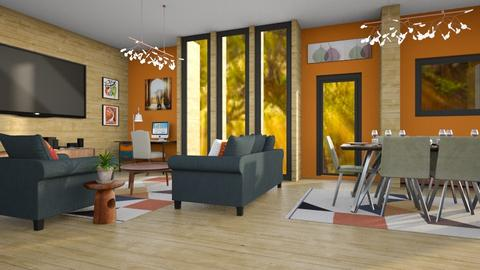 Fall Home - Rustic - Living room  - by millerfam