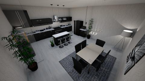 Kitchen Dining - Modern - Kitchen  - by rajust_fly