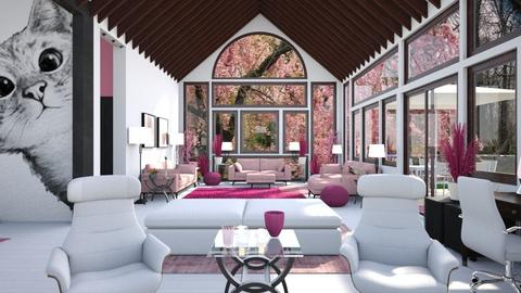 By Request Pink and Cats - Bedroom  - by Amyz625