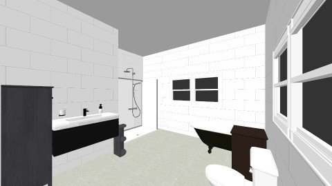 Red House Bathroom - Country - Bathroom  - by monafair