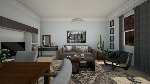 Dark Wood - Modern - Living room  - by janip