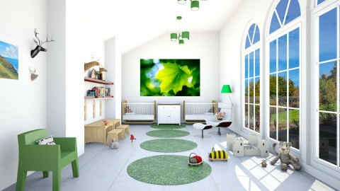 Leafy Twins Bedroom - Modern - Kids room  - by IdaJo