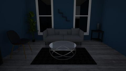blue and grey - Living room  - by CatfishJohn