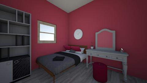 raspberry room - Bedroom  - by jade gere