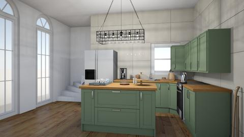 green kitchen - Kitchen - by neve113