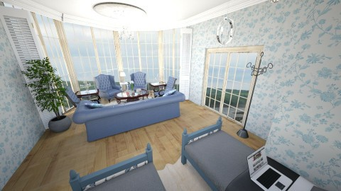 Blue Bedroom Contest - Vintage - by chloe5060