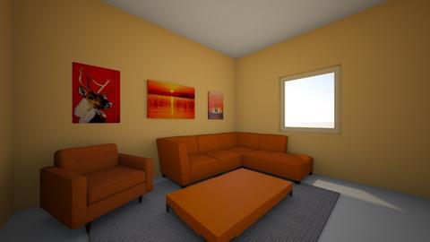 orange living room  - Living room  - by amiehall