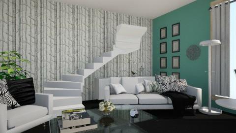 deep green - Living room - by llilike