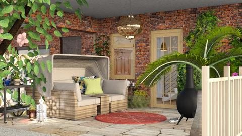 Small living patio - Eclectic - Garden  - by augustmoon