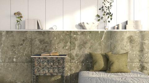 Olive bedroom - Bedroom  - by eliseatlife