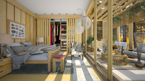 wooden house - Eclectic - Bedroom  - by Ida Dzanovic
