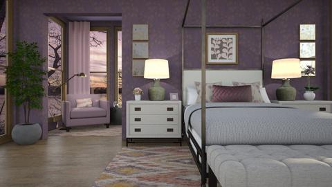 purplepink - Bedroom  - by Bonnie Chappell