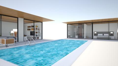 b Wohnung mit pool - Modern - Garden  - by Marie Harrer