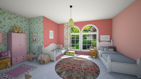 Girls Backyard Bedroom - Kids room - by fay01