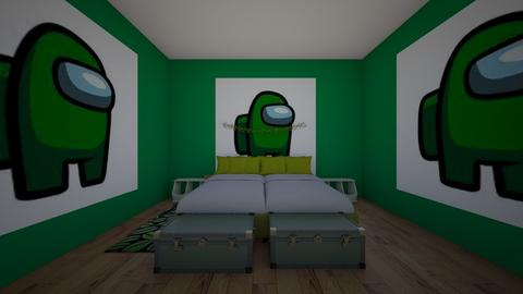 green among us bedroom - Bedroom  - by crying_room