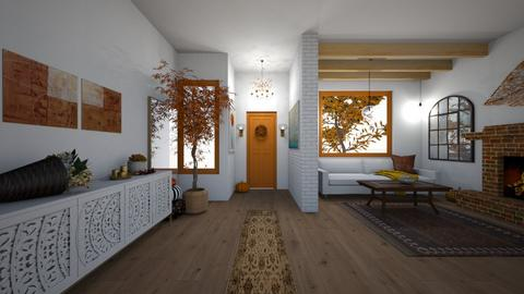 autumn hallway  - Living room  - by Izabel_M