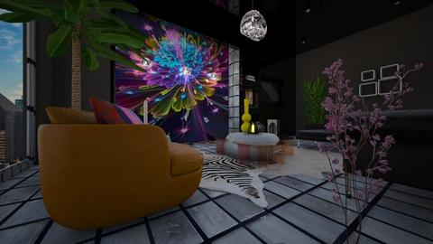 Floral Tech - Retro - Living room - by timeandplace