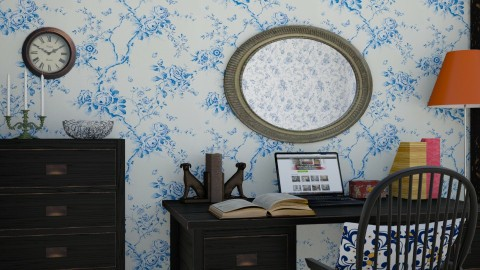 Blue Wallpaper - Vintage - Office  - by ANM_975