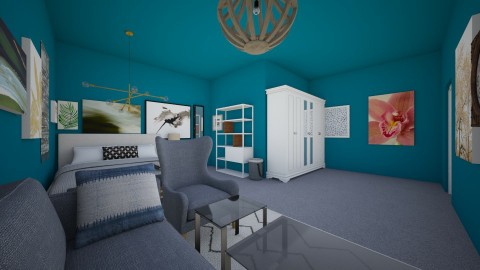 Colors of Grey - Modern - Bedroom - by Elf_prettyballetgirl16