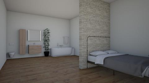bade und schlaf zimmer - Bathroom - by Lena Feistzritzer