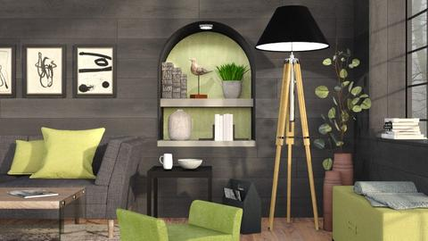 Black and Lime - Modern - Living room  - by Sally Simpson