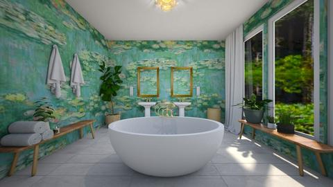 Lily Pond Bathroom - Bathroom  - by sydpmoore