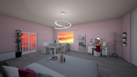 sunset pink - Bedroom - by Melanie25
