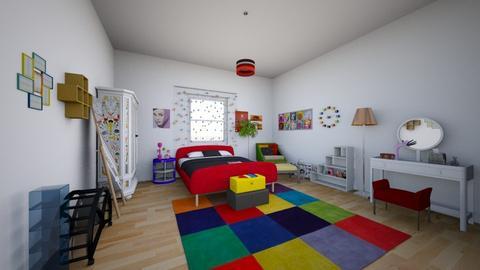 color - Vintage - Bedroom - by t5vero