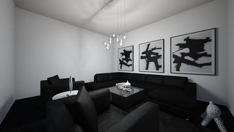 black and white - Living room  - by nataesquenazi
