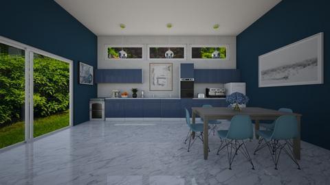 Blue Kitchen - Kitchen  - by VeroDale
