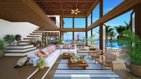 Brazilian Beach House  - Modern - Living room - by maja97