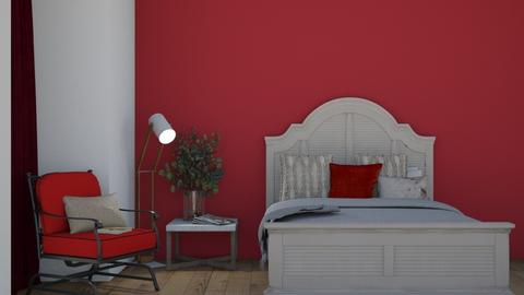 Red velvet room - Bedroom  - by notyou